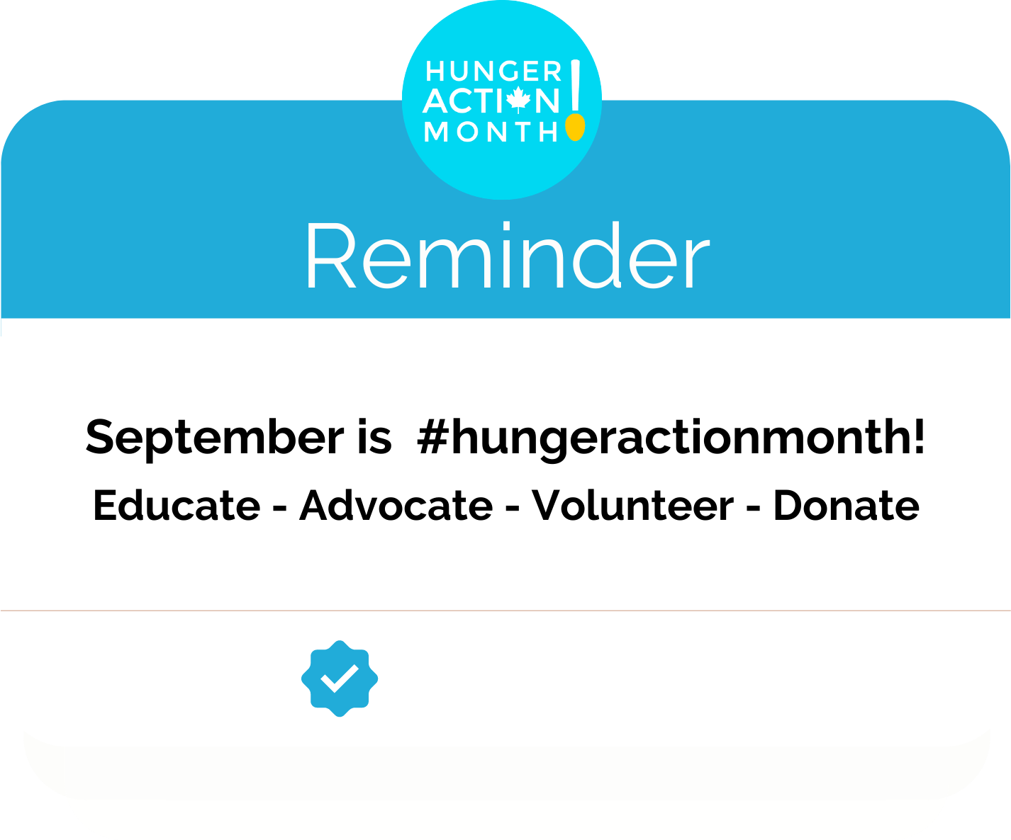 Hunger Action Month Logo